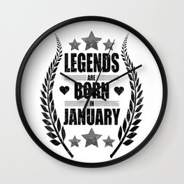 January Birthday Gift Wall Clock