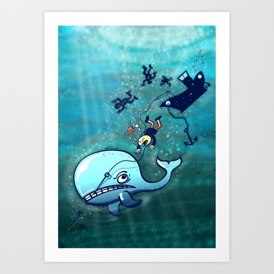 Whales are Furious! Art Print