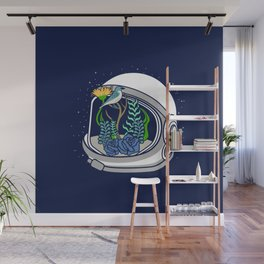 Astro Flowers Wall Mural