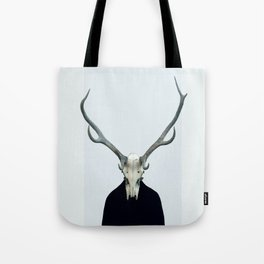 Living Skull and Horns Tote Bag