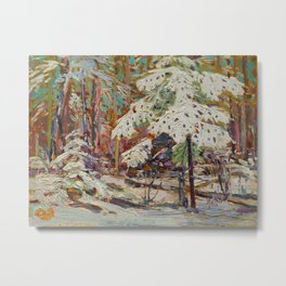 Tom Thomson Snow in the Woods Canadian Landscape Artist Metal Print