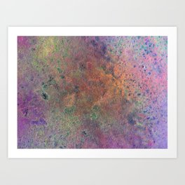 Copper Mixed Media Painting On Canvas Under UV Spectrum Lightbulb Art Print