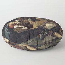Bartolome Esteban Murillo - The Adoration of the Shepherds Floor Pillow