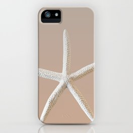 Large Starfish on Sand iPhone Case