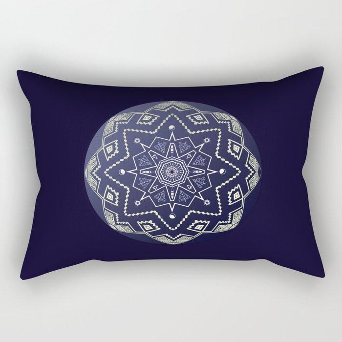 Wedgewood Sphere Mandala Rectangular Pillow