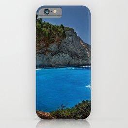 porto katsiki lefkada greece ionian sea hdr iPhone Case