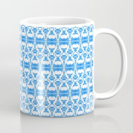 Dividers 02 in Blue over White Coffee Mug
