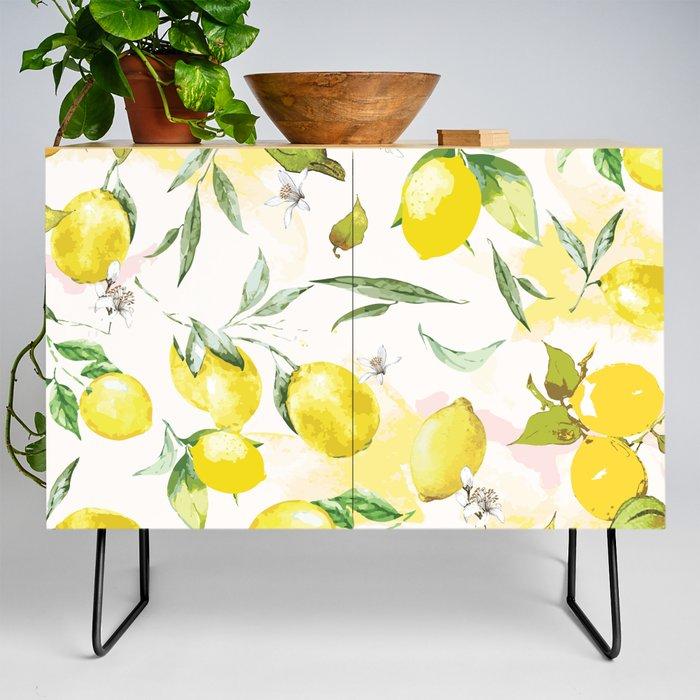 Watercolor_lemons_Credenza_by_B_&_K__Black__Birch
