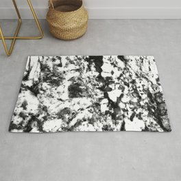 Harlequin Ebony Black and Eggshell White Marble Pattern Rug