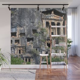 Rock Tombs Photograph Fethiye Wall Mural
