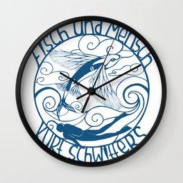 Fisch und Mensch (Fish and Man) Wall Clock