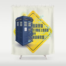 Doctor Who Tardis - Baby Timelord on Board Shower Curtain