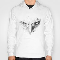 eagle Hoodies featuring Eagle by Anna Shell