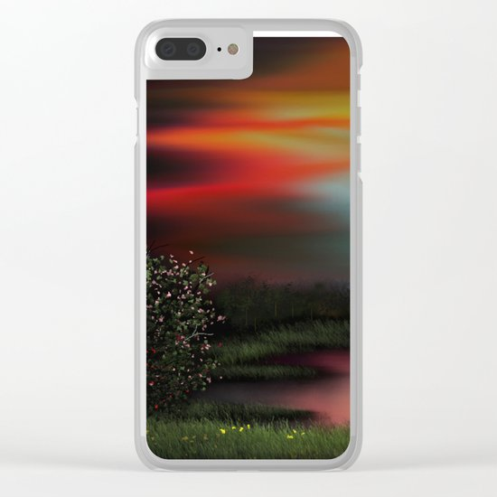 Colorful Sky Clear iPhone Case