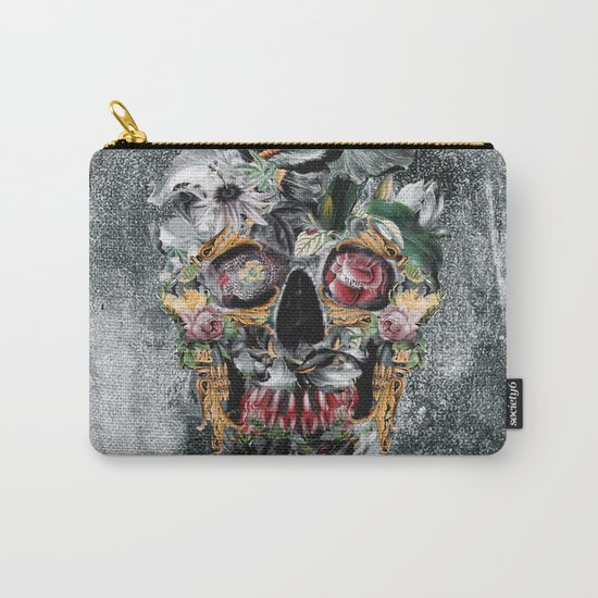 Skull on old grunge III Carry-All Pouch