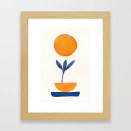 The Little One / Abstract Plant Painting Framed Art Print