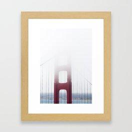 Golden Gate Bridge in Fog Framed Art Print