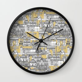 Paris toile gold Wall Clock