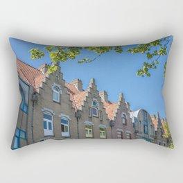 Bruges skyline Rectangular Pillow