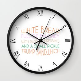 Trump Sandwhich Wall Clock