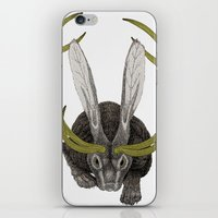 jackalope iPhone & iPod Skins featuring Jackalope by Justin McElroy