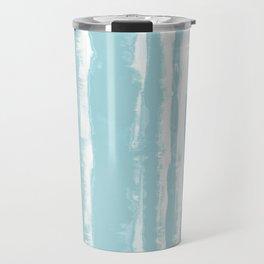 Shibori Stripe Seafoam Travel Mug