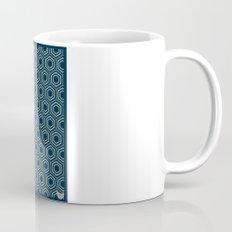 Hexagon Pattern in Blue Mug