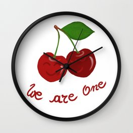 Oh cherry-cherry *in love* Wall Clock