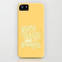 hustle hard iPhone Case