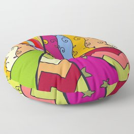 African Style No14, Tribal dance Floor Pillow