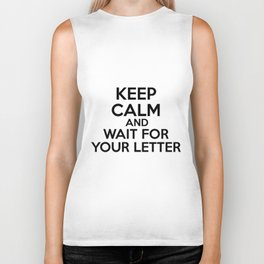 HP Keep calm and wait for your letter #1  Biker Tank