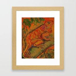 lumious lizard Framed Art Print