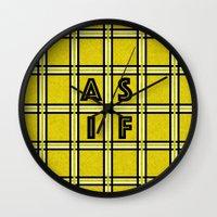 clueless Wall Clocks featuring AS IF by Ricki Lynn