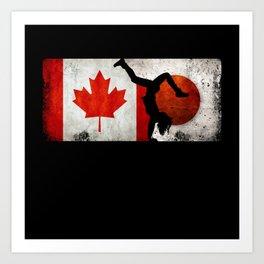 Breakdancing Women Canada Flag Tokyo 2021 Japan Art Print