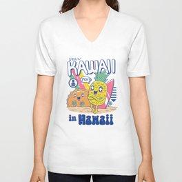 Kawaii in Hawaii Unisex V-Neck