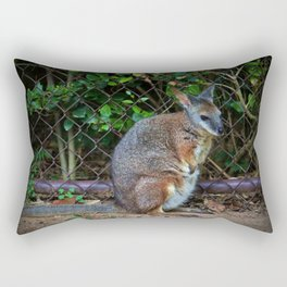 Red Necked Wallaby Rectangular Pillow
