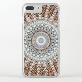 New Color Pyramidal Mandala 43 Clear iPhone Case