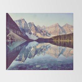Moraine Lake Reflection Throw Blanket