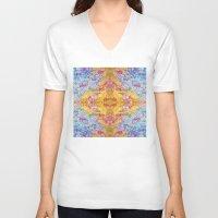 lsd V-neck T-shirts featuring LSD Flower by Zeus Design