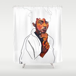 Honor the space you are in Shower Curtain