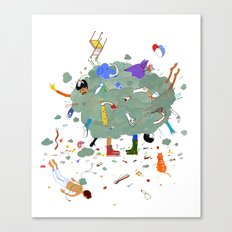 Fight Cloud Canvas Print