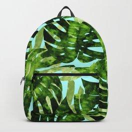 Watercolor tropical leaf XIII Backpack