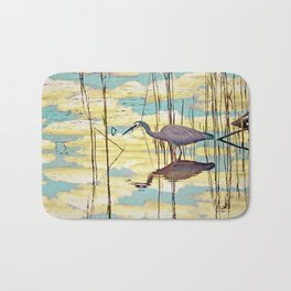 Wading Through Clouds Bath Mat