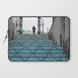 Mystery Man on the Blue Stairway to Heaven, Kansas City Laptop Sleeve