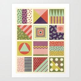 Patternz Art Print