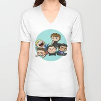 cyrilliart V-neck T-shirts featuring Cutie Pile by Cyrilliart