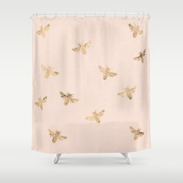 Busy Bees (Pink) Shower Curtain