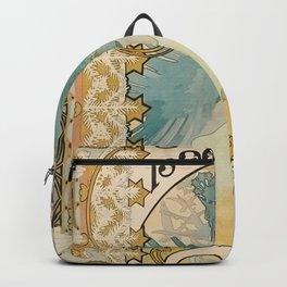 1896 Two Women - Alphonse Mucha Backpack