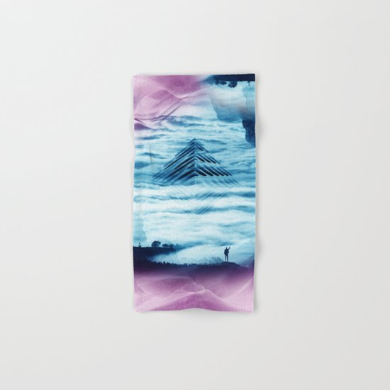 Pyramid Teal Hand & Bath Towel