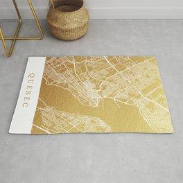 Gold Quebec map Rug
